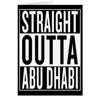 straight outta Abu Dhabi Card