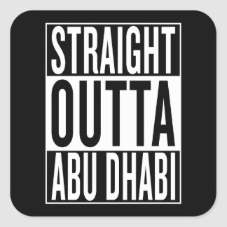 straight outta Abu Dhabi Square Sticker