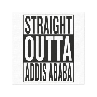 straight outta Addis Ababa Canvas Print