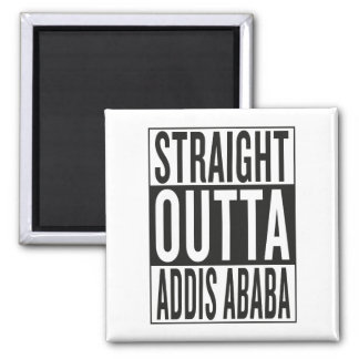 straight outta Addis Ababa Square Magnet