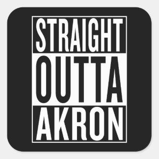 straight outta Akron Square Sticker