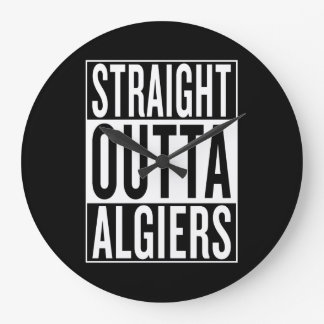 straight outta Algiers Large Clock