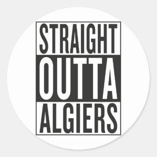 straight outta Algiers Round Sticker