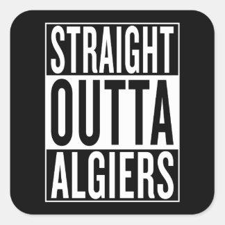 straight outta Algiers Square Sticker