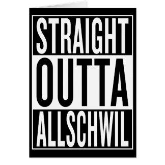 straight outta Allschwil Card