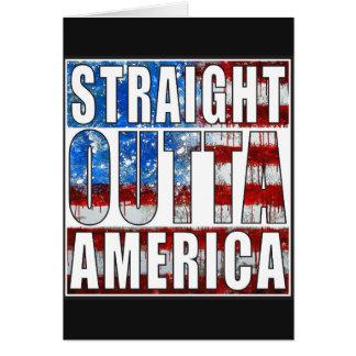 straight outta America.jpg Greeting Card
