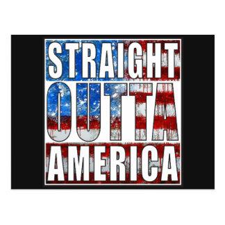 straight outta America.jpg Postcard