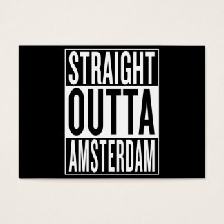 straight outta Amsterdam Business Card
