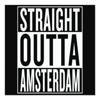 straight outta Amsterdam Card