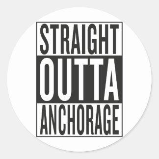 straight outta Anchorage Round Sticker