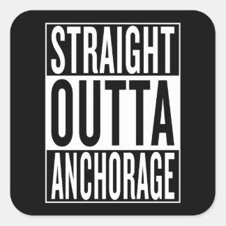 straight outta Anchorage Square Sticker