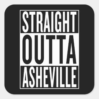 straight outta Asheville Square Sticker