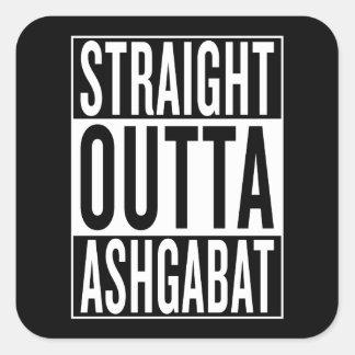 straight outta Ashgabat Square Sticker