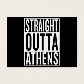straight outta Athens Business Card