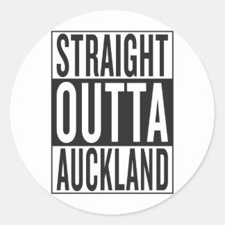 straight outta Auckland Round Sticker