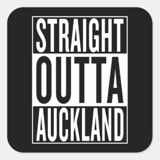 straight outta Auckland Square Sticker