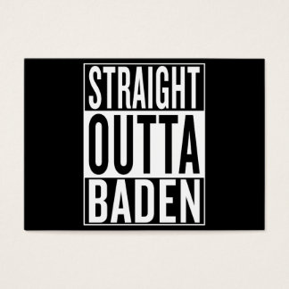 straight outta Baden Business Card