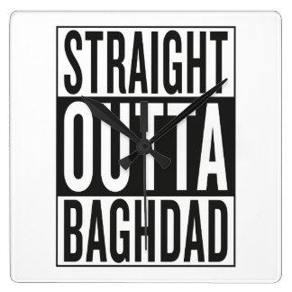 straight outta Baghdad Wallclocks