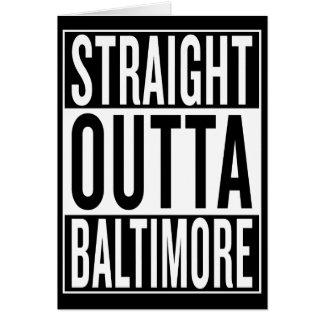 straight outta Baltimore Card