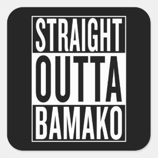 straight outta Bamako Square Sticker