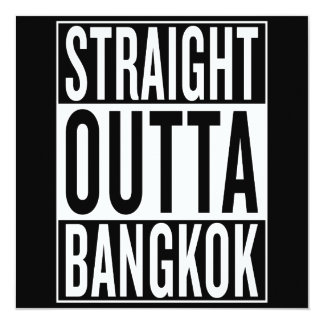 straight outta Bangkok Card