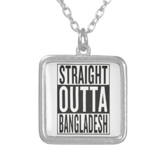 straight outta Bangladesh Silver Plated Necklace