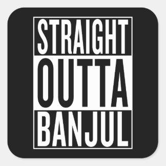 straight outta Banjul Square Sticker