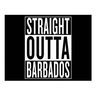 straight outta Barbados Postcard