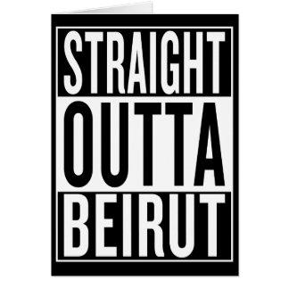 straight outta Beirut Card