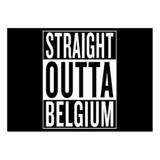 straight outta Belgium Large Business Card