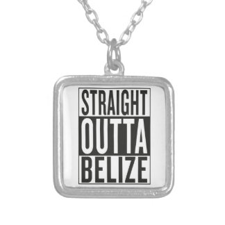 straight outta Belize Silver Plated Necklace