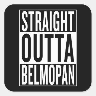 straight outta Belmopan Square Sticker