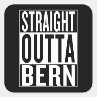 straight outta Bern Square Sticker