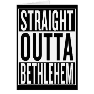 straight outta Bethlehem Card