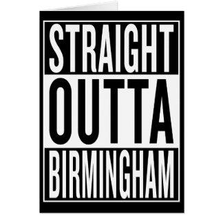 straight outta Birmingham Card