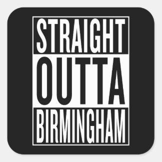 straight outta Birmingham Square Sticker