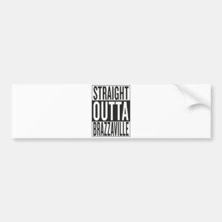 straight outta Brazzaville Bumper Sticker