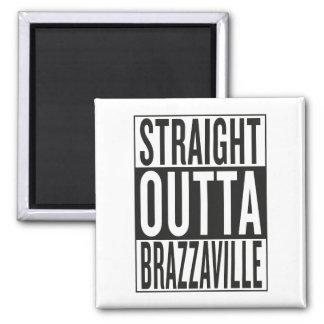 straight outta Brazzaville Square Magnet