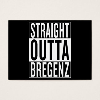 straight outta Bregenz Business Card