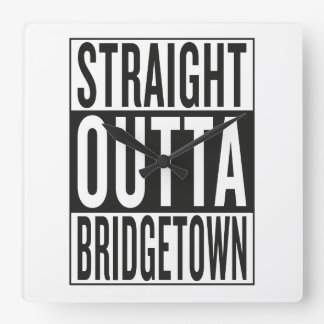 straight outta Bridgetown Wallclock