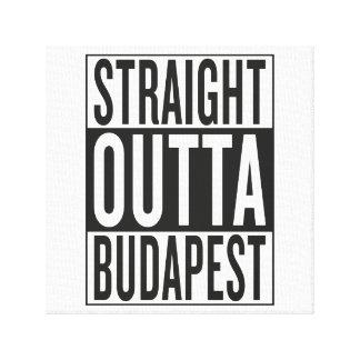 straight outta Budapest Canvas Print