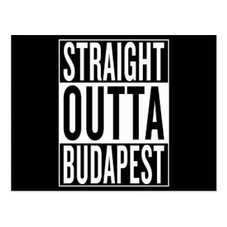 straight outta Budapest Postcard