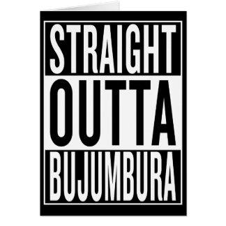 straight outta Bujumbura Card