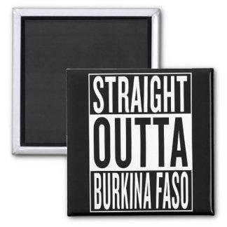 straight outta Burkina Faso Square Magnet