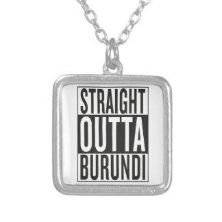 straight outta Burundi Silver Plated Necklace