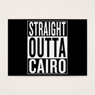 straight outta Cairo Business Card
