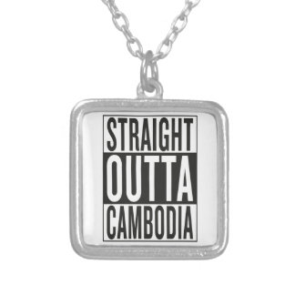 straight outta Cambodia Silver Plated Necklace