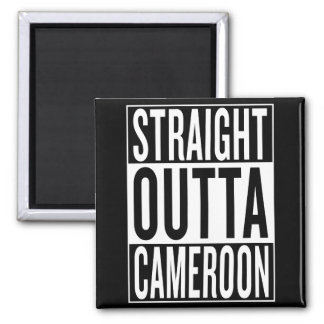 straight outta Cameroon Square Magnet