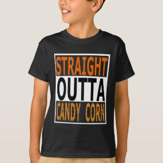 Straight Outta Candy Corn Funny Halloween T-Shirt
