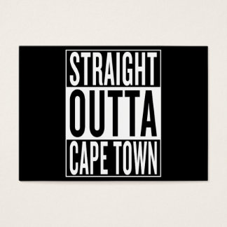 straight outta Cape Town Business Card